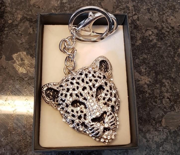 MS - Anhänger Strass Leopard