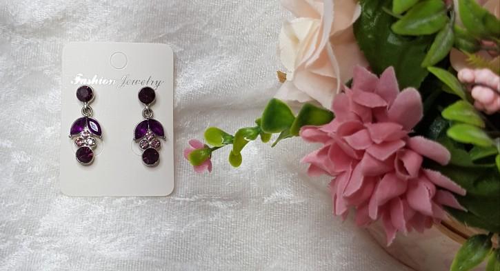 MSO - Ohrstecker lila Blüten