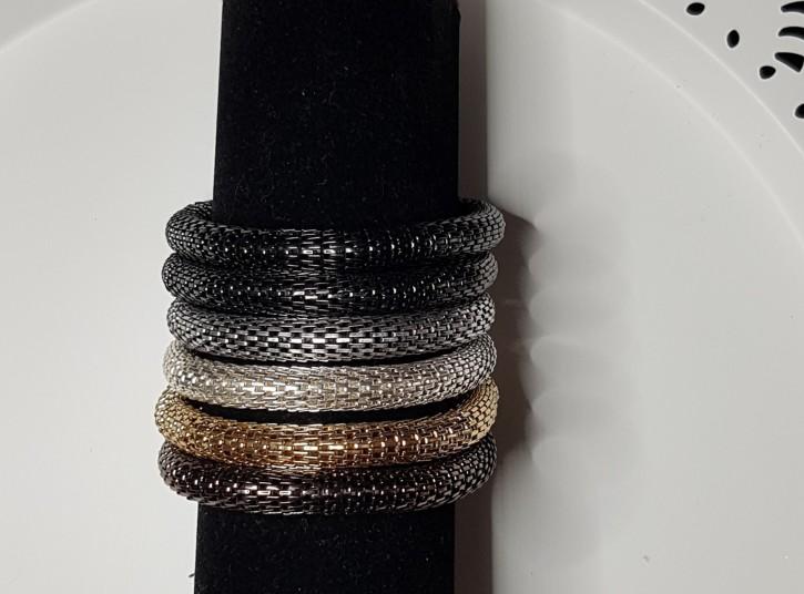 MS - Armband Mash metalic