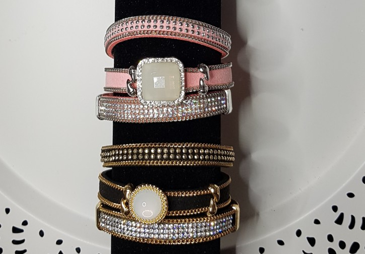 MS - Armband Perlen/Strass