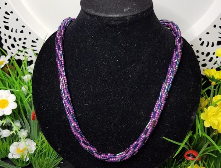 HM - Perlkette violet/lila