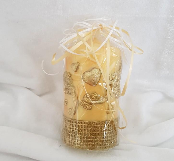 HMK - Kerze Gold Schnörkel