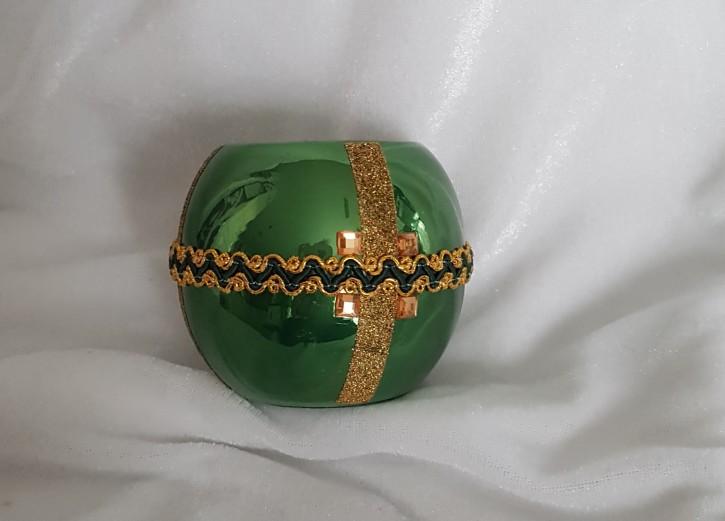 HMT - Teelichthalter grün/gold