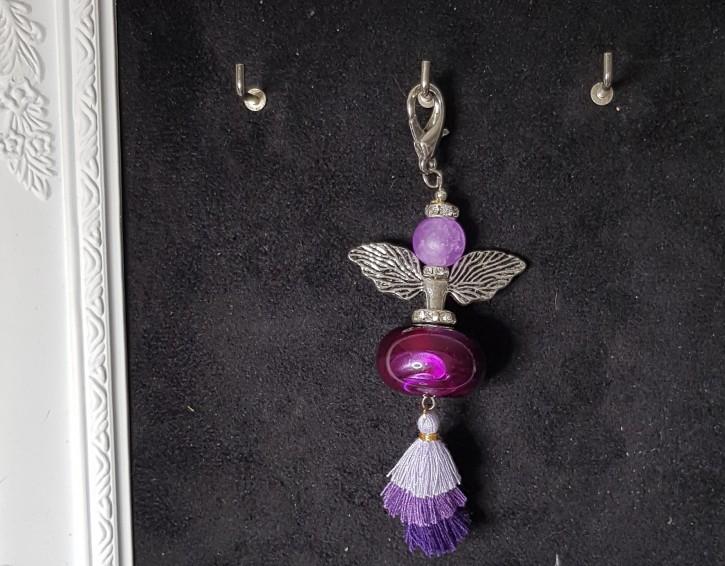 HMP - Perlenengel lila Quaste