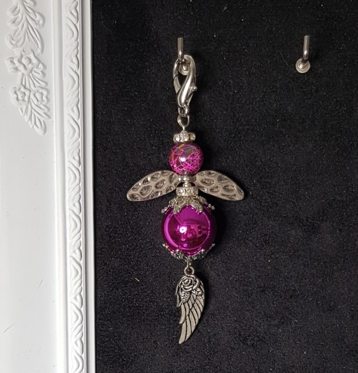 HMP - Perlenengel Flügel pink