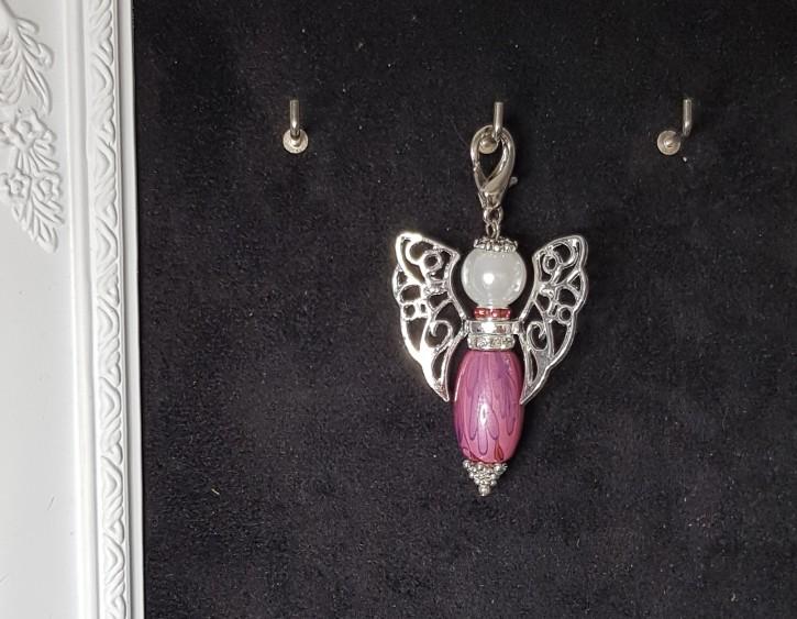 HMP - Perlenengel rosa oval