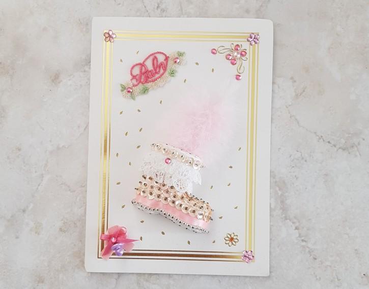 HMK - Karte Baby rosa Schuh