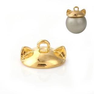 BM - Perlkappe gold Ohren