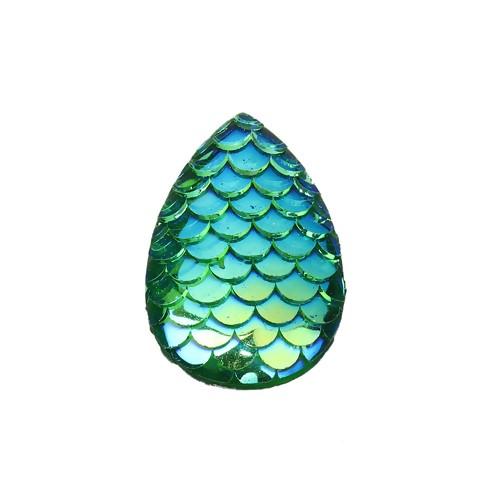 BD - Cabochon Schuppe grün
