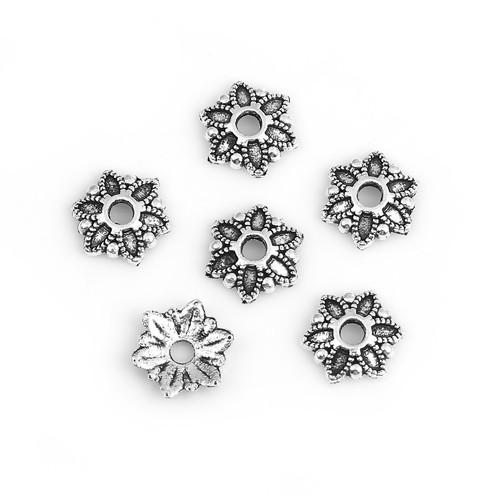 BP - Perlkappe Blume antik