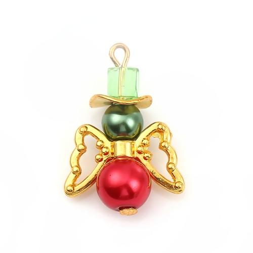 HMP - Perlenengel rot/grün