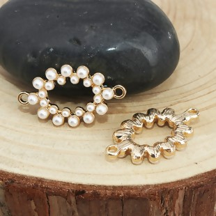 BV - Verbinder Oval Perle