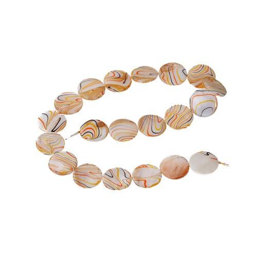 BP - Perle Muschel Streifen gelb