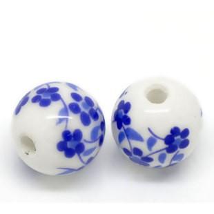 BP - Keramikperle weiss Blume
