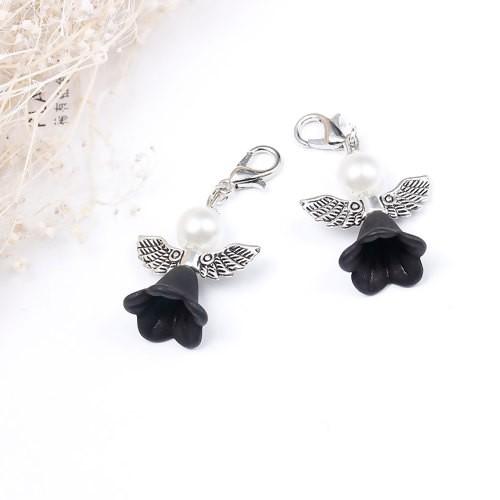 HM - Perlenengel Blume schwarz