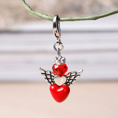 HM - Perlenengel Herz rot